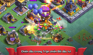 tinh nang chien dau trong game clash of clans